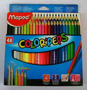 Color'peps  Maped  Colour Pencils  48 Assorted Shades  Assorted Colors