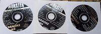 3 CDG KARAOKE DISCS R&B MALE/FEMALE MONSTER HITS CD+G CD MUSIC ROSE ROYCE