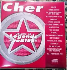 LEGENDS KARAOKE CDG CHER OLDIES POP #40 17 SONGS CD+G BELIEVE,HEART OF STONE