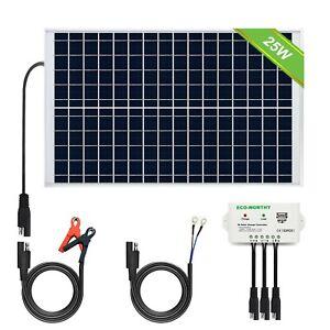 ECO-WORTHY [Upgraded] 25 Watts 12V Off Grid Solar Panel SAE Connector Kit: Wa...