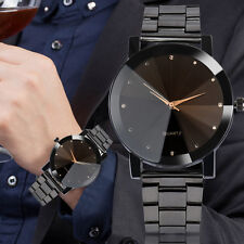Moda Mujer Reloj Hombre Cristal Acero Inoxidable Analógico Cuarzo Fecha