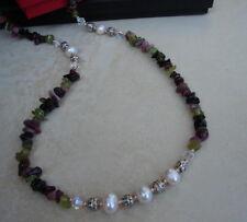 _LDN_Collier designer Cristal Swarovski Tourmaline Perles d'eau douce