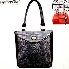 Concealed Carry Handgun Handbag Montana West Trinity Ranch Tooled Purse Black