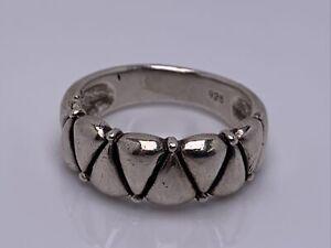 Vintage Sterling Silver Modernist Ring Band Size 9