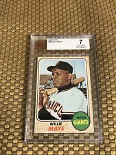 1968 TOPPS #50 WILLIE MAYS  BASEBALL CARD GIANTS BVG BECKETT 7 NM