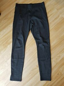 Ladies Grey Check Leggings Size 14 by Newlook