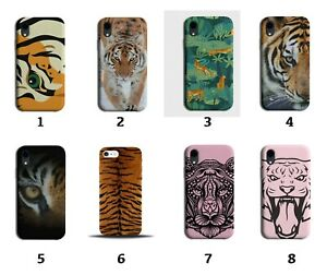 Tiger Print Phone Case Cover Pattern Design Marks Stripes Animal Tigers 8084a