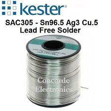 "Kester Solder 24-7068-6403: Lead-Free .031"" #331-Water-Soluble  Sn/Ag/Cu  1-lb."