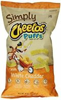 Cheetos Cheese Snacks, Simply White Cheddar Puffs, 8 oz by Cheetos