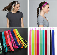 Fantastic 10 Colors Double Sports Elastic Headband Yoga Anti-Slip Hairband