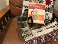 VINTAGE 60S PYREX COFFEE POT MAKER STOVETOP 4-8 cup RETRO STYLE mid modern new
