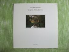 George Winston BALLADS & BLUES, Windham Hill / Lost Lake (1981) LP Vinyl (Japan)