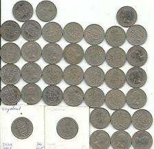lot van 39 munten van One Shillings van Engeland weegt 225 gram ,zie foto's ,Nr