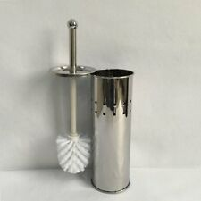 Stainless Steel Cleaning Toilet Bowl Brush Bathroom Tool Holder With Base