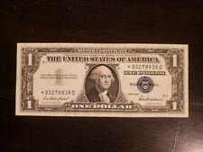 1957 A $1 Blue Seal 1 One Dollar Bill Silver Certificate Fancy Star Note