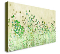 POPPY BUDS GREEN ABSTRACT Canvas Wall Art Print. Various Sizes