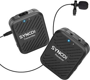 SYNCO G1(A1) Lavalier Lapel Mic w/Transmitter Receiver Kit For Camera Smartphone