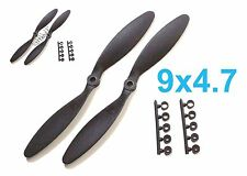 """2pcs 9x4.7"""" Slow Flyer SF Electric Propeller w/ Adapters TH001-00309B"""