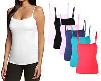 Moxeay Womens Girls Soft Cotton Basic Stretch Spaghetti Strap Tank Top Camisole