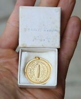 Vintage 1937 100 Bushel Corn Club Gold Pendant Award Seed Feed Badge Farm Medal