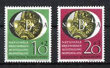 Bund 141 - 142 postfrisch NBA Wuppertal BRD Briefmarkenausstellung 1951