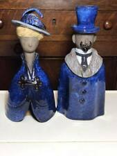 "Pair of 10"" tall Elsi Bourelius Jie Gantofta Figurines Made in Sweden"