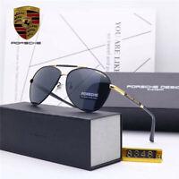 Porsch e Design Eyewear Driving Men's UV400 Polarized Sunglasses WITH BRAND BOX!