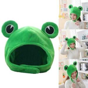 Cartoon Funny Adorable Plush Frog Hat Cosplay Costume Headgear Up Hat 2020 F3S7