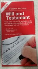 LAST WILL AND TESTAMENT KIT,  BN Sealed