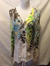 Adam Jacobs Womens Top Size Medium Long Sleeve Embellished Artsy E39