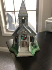 New ListingPartyLite The Church Olde World Village Tealight House Candle Holder
