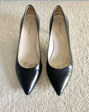Prada Black Capretto Classic Court Shoes Size 39