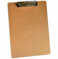 A4 / Foolscap Clipboard. Masonite Wooden, Rigid Hardboard. Heavy Duty. 59312