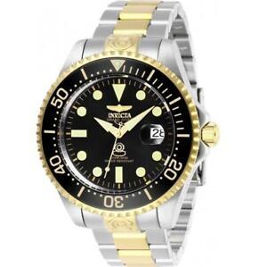 Invicta Grand Diver 27614 Men's Two-Tone Black Automatic Date Analog Watch