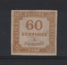 """FRANCE STAMP TIMBRE TAXE 8 """" CHIFFRE TAXE 60c JAUNE BISTRE"""" NEUF TB SIGNE T149"""