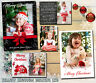 10 Personalised Christmas Cards Xmas Photo Folded Postcards Thank You Notes Kids