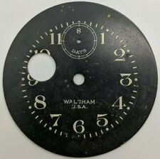 Vintage Original Waltham 8 Day car clock Dial
