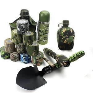 Camping Stealth Self-adhesive Camo Wrap Tapes Camouflage Bandage Outdoor Tools