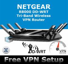 NETGEAR R8000 NIGHTHAWK X6 DDWRT VPN WIRELESS ROUTER OPENVPN DD-WRT PLUG & PLAY