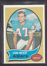 1970  TOM BEIER - Topps Football Card- # 64 - San Francisco 49ers - Vintage