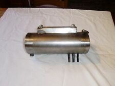 OVAL MOTORCYCLE OIL TANK IN RAW STEEL CUSTOM MADE FOR HARLEY BOBBER CHOPPER
