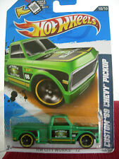 Hot Wheels Custom '69 Chevy Pickup HW City Works Green