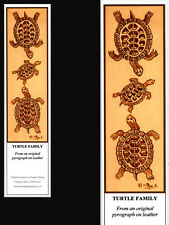 Tortoise/Turtle Family Laminated Bookmark - Print from Original Art