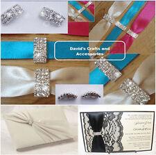 50x grade a strass strass ruban Boucle curseurs-Mariages etc (pas secondes)