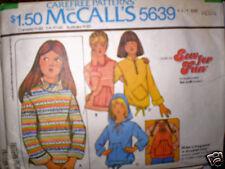 Vintage McCall Pattern Girls Knit Tops Petite 5/6 7/8