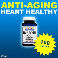 RED Krill Oil -100 Count HIGH-1000 MG Omega-3 Fatty Acids -EPA -DHA -Astaxanthin