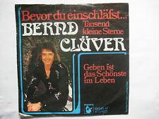 """Bernd Clüver, """"Bevor du einschläfst"""", """"Geben ist das Schönste im Leben"""" = Single"""