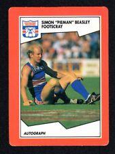 1989 SCANLENS FOOTBALL CARD - SIMON BEASLEY FOOTSCRAY #89 (NEAR MINT)