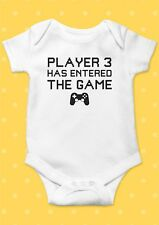 Player 3 Has Entered The Game Funny Cool Baby Shower Boy Girl Bodysuit Romper 68