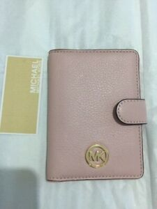 NWT MICHAEL KORS 'Fulton' Leather Passport Case